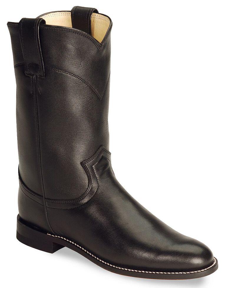 9b8f81d5e46 Justin Women's Original Black Roper Boots - Round Toe