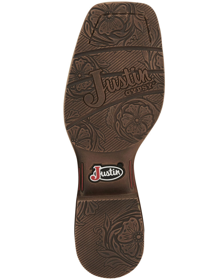 Justin Women's Breakaway Western Boots- Square Toe, Tan, hi-res