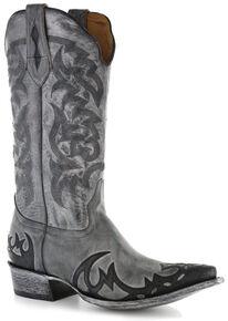 a68bc1425 Moonshine Spirit Men s Distressed Grey Cowboy Boots - Snip Toe