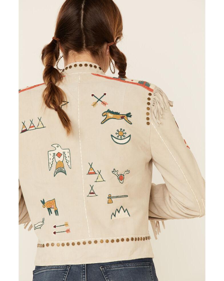 Double D Ranch Women's Cream Gathered Stories Zip-Front Jacket , Cream, hi-res