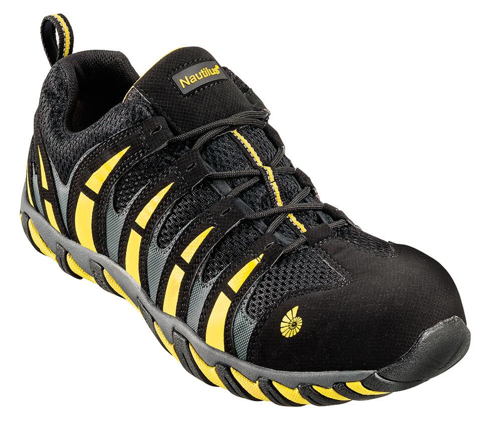 Nautilus Men's Nylon Mesh Athletic Work Shoes - Composite Toe, Blk/yellow, hi-res