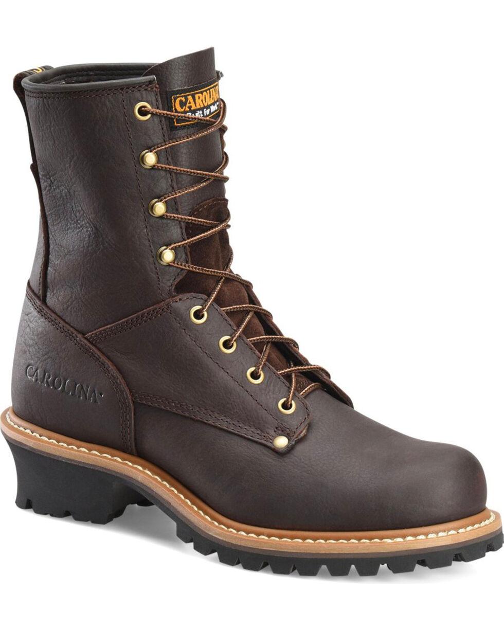 Carolina Men's Brown Logger Boots - Round Toe, Brown, hi-res