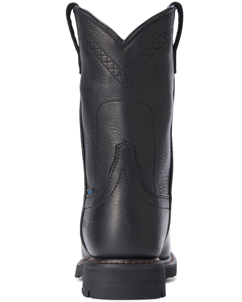 Ariat Men's Sierra Waterproof Western Boots - Round Toe, Black, hi-res
