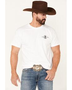 Cowboy Up Men's White Cu Or Shut Up Graphic Short Sleeve T-Shirt , White, hi-res