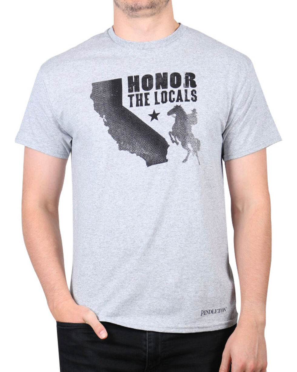 Pendleton Men's California Honor the Locals T-Shirt, Heather Grey, hi-res