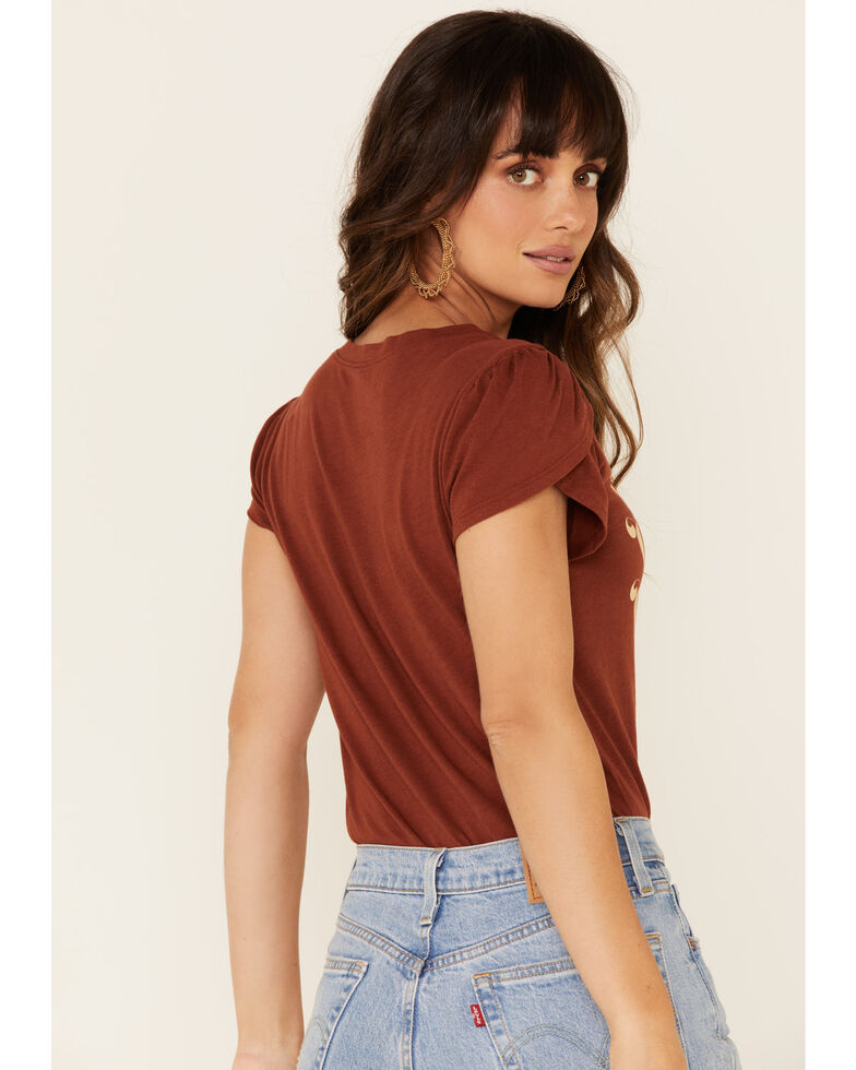 Shyanne Women's Rust Whiskey Whiskey Whiskey Graphic Tee , Rust Copper, hi-res
