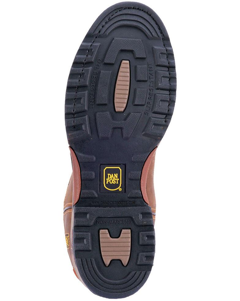 Dan Post Men's Journeyman Waterproof Work Boots - Round Toe, Brown, hi-res