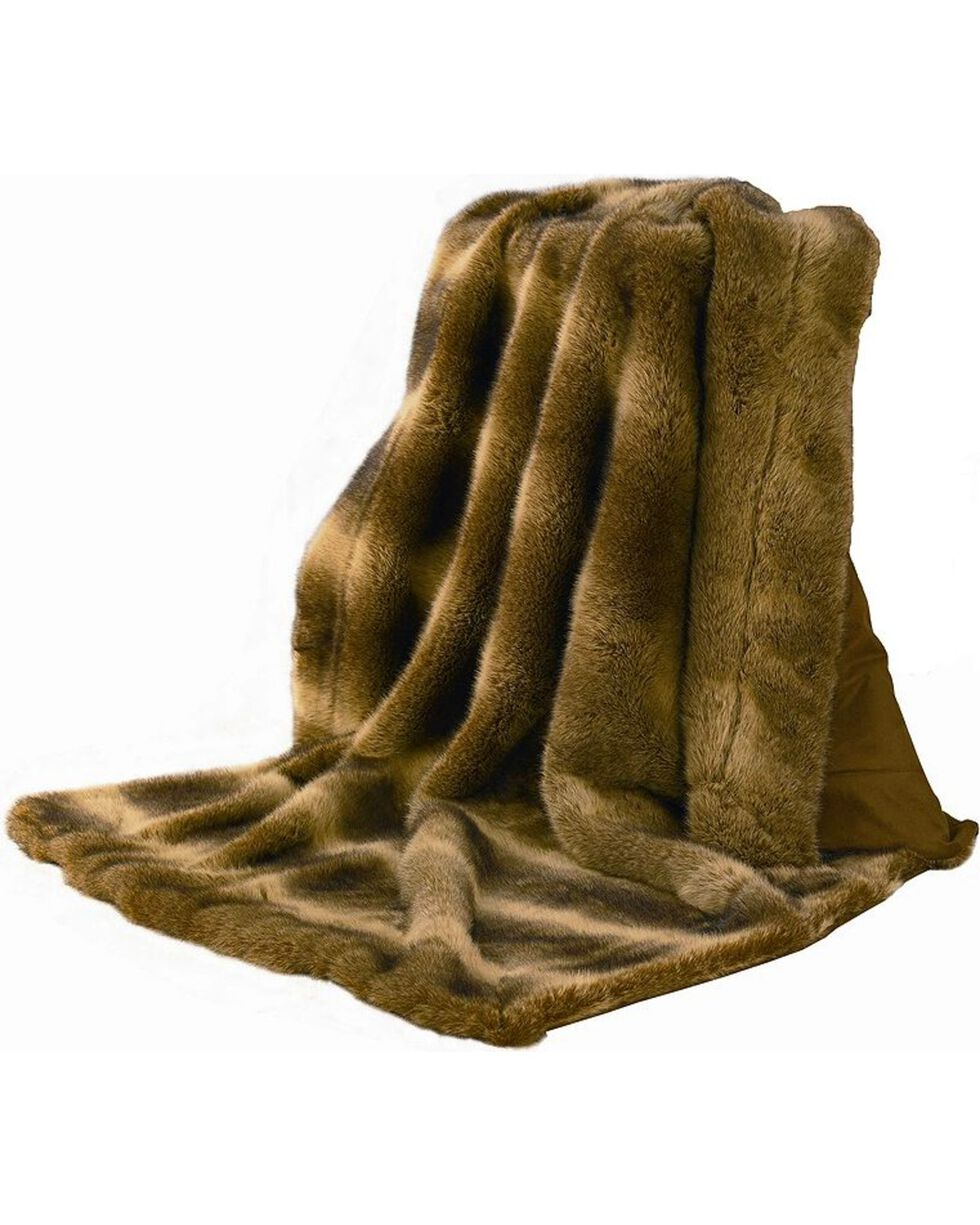 HiEnd Accents Faux Fur Throw Blanket, Multi, hi-res