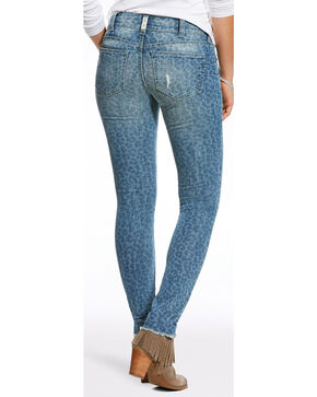 Ariat Women's R.E.A.L. Leopard Print Jeans - Skinny , Indigo, hi-res