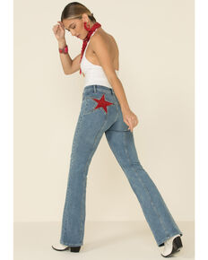 Free People Women's Firecracker Flare Jeans, Blue, hi-res