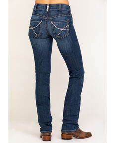 Ariat Women's Medium R.E.A.L. Rookie Straight Jeans , Blue, hi-res