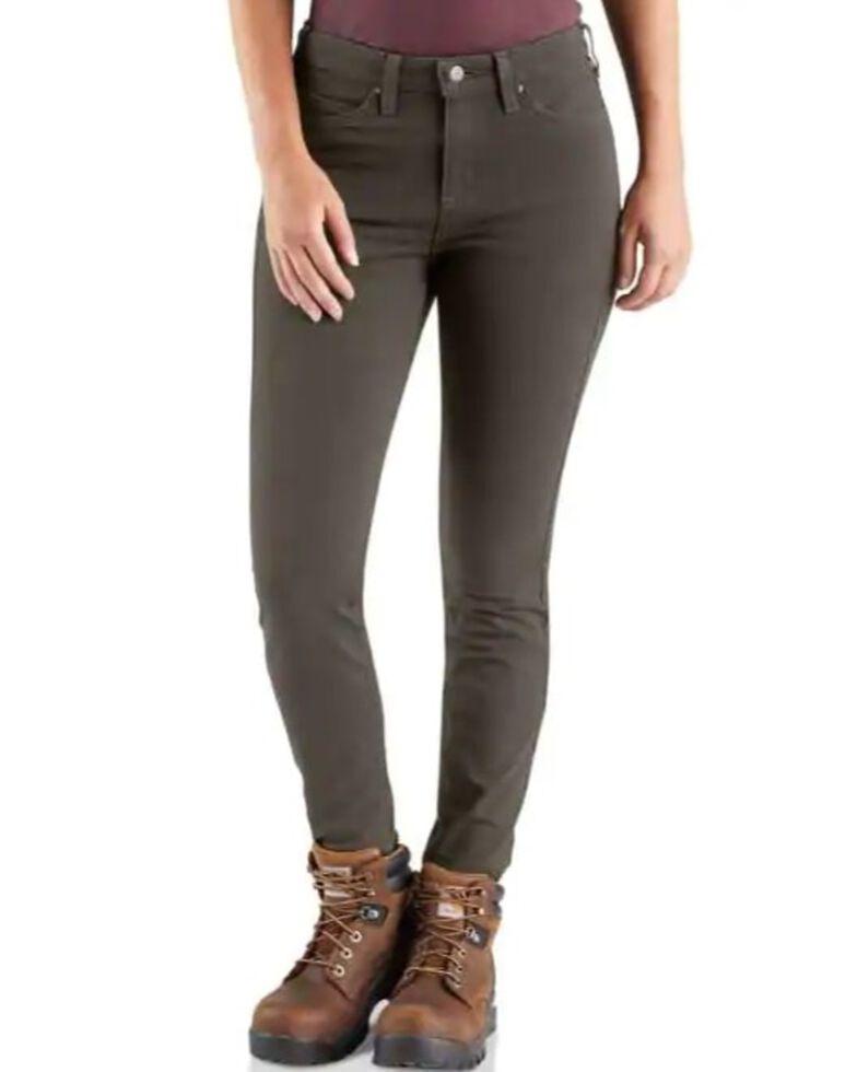 Carhartt Women's Rugged Flex Slim Fit Work Pants , Dark Grey, hi-res