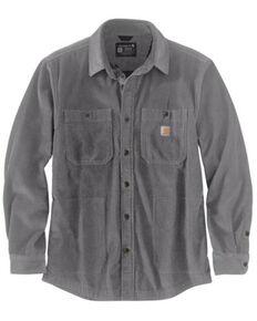 Carhartt Men's Steel Loose Fit Heavyweight Corduroy Button-Down Work Shirt Jacket , Grey, hi-res