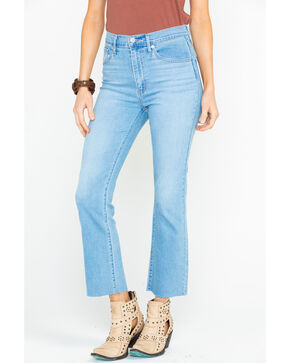 Levi's Women's Mile High Play Harded Light wash Crop Flare Jeans, Blue, hi-res