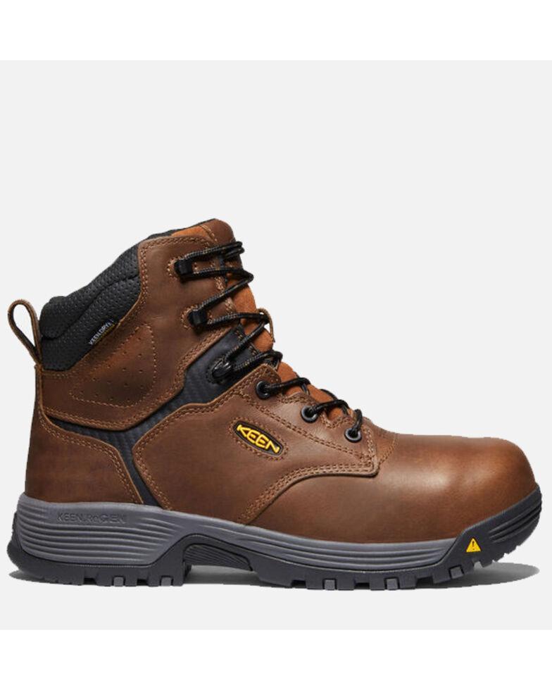 Keen Men's Chicago Waterproof Work Boots - Carbon Toe, Brown, hi-res