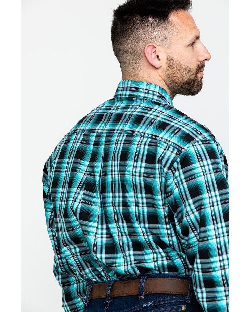Cinch Men's Black Plaid Long Sleeve Western Shirt  , Black, hi-res