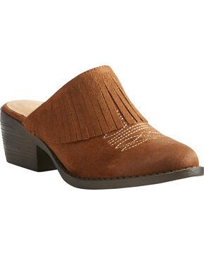 Ariat Women's Unbridled Shirley Brown Mules - Round Toe, Suntan, hi-res