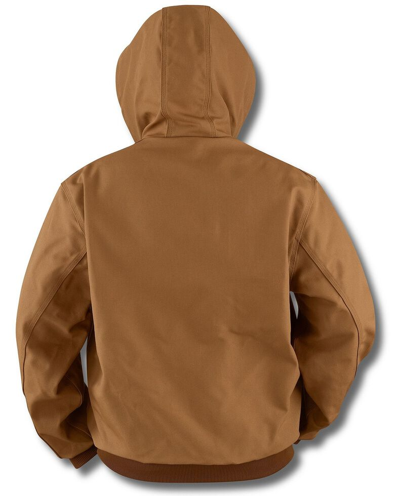 Carhartt Thermal Lined Canvas Hooded Jacket, Brown, hi-res