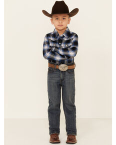Cody James Boys' 4-8 Steel Dust Stretch Slim Straight Jeans , Blue, hi-res