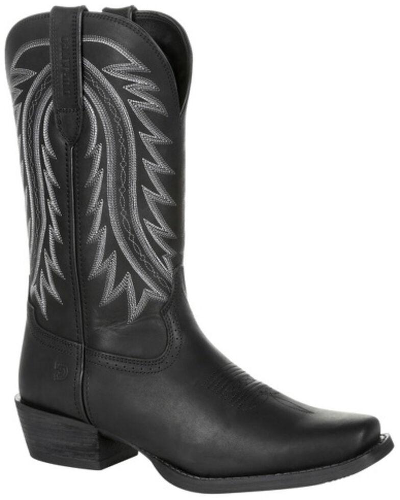 Durango Men's Rebel Frontier Western Boots - Narrow Square Toe, Black, hi-res