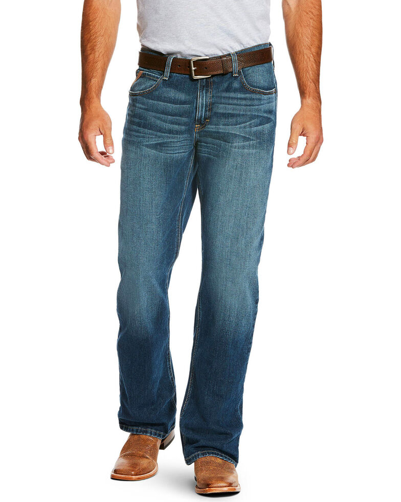 Ariat Men's Blue M4 Kilroy Relaxed Bootcut Jeans, Blue, hi-res