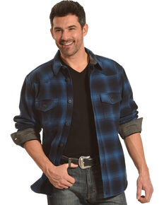 Cody James Men's Valkyrie Plaid Fleece Lined Flannel, Navy, hi-res