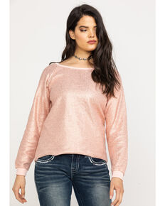 Ariat Women's Golden Rose Sweatshirt, Pink, hi-res