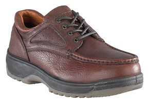 Florsheim Men's Compadre Lace-Up Oxford Shoes - Composite Toe, Brown, hi-res
