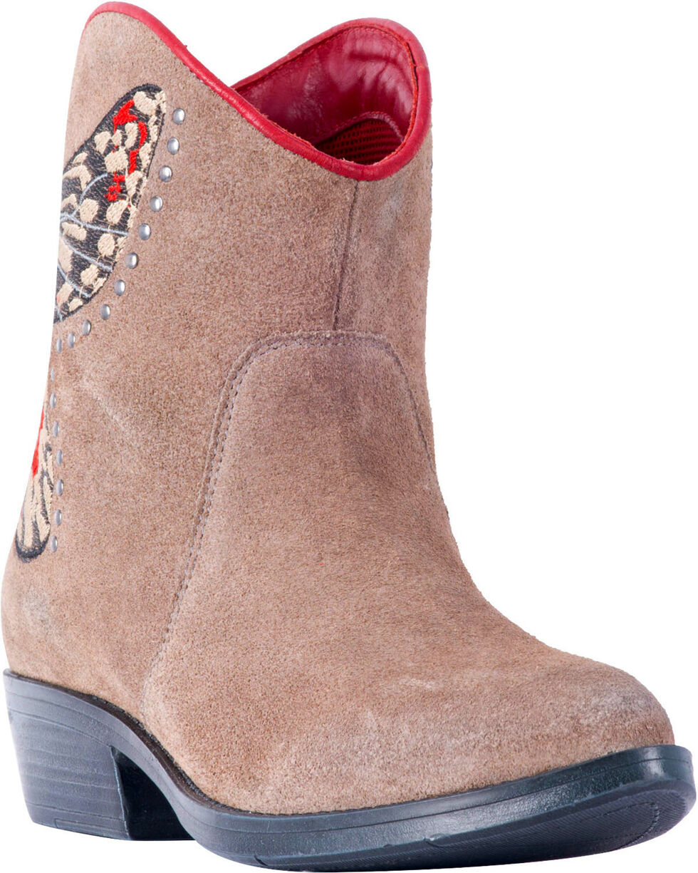 Laredo Women's Flutter Butterfly Cowgirl Boots - Medium Toe , Taupe, hi-res
