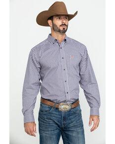 Ariat Men's Umber Stretch Multi Plaid Long Sleeve Western Shirt , Multi, hi-res