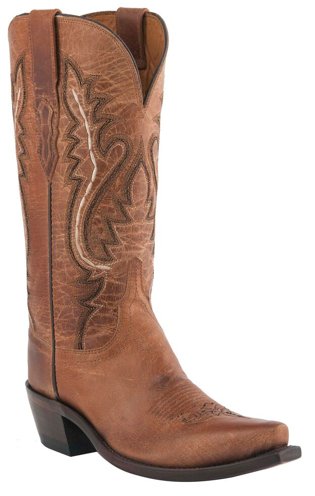 Lucchese Women's Handmade 1883 Cassidy Cowgirl Boots - Snip Toe, Tan, hi-res