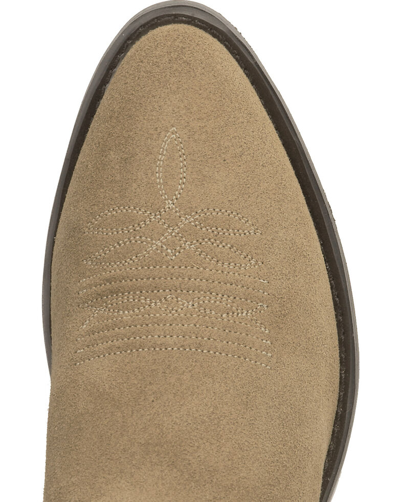 Old West Roughout Suede Cowboy Boots - Medium Toe, Natural, hi-res