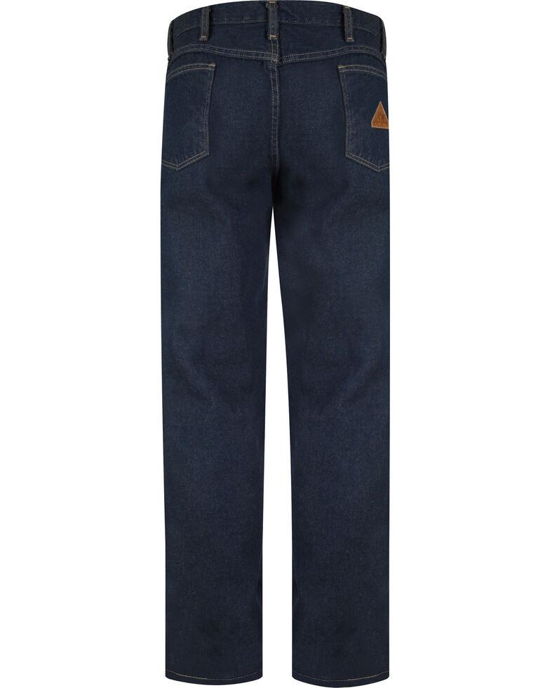 Bulwark Men's Flame-Resistant Straight Fit Sanded Denim Jeans - Big & Tall , Blue, hi-res