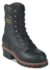 "Chippewa 9"" Insulated Waterproof Super Logger Boots - Steel Toe, Black, hi-res"