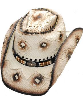 Western Express Men's Jackson Straw Hat, Dark Brown, hi-res