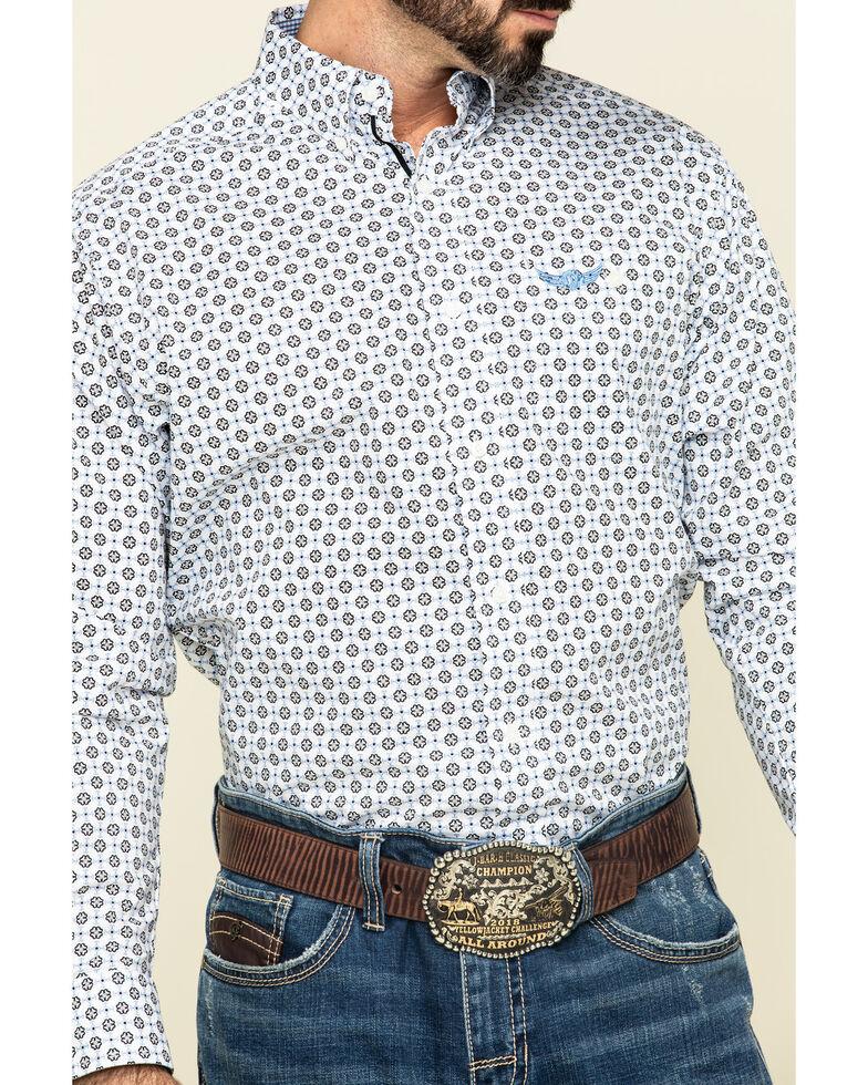 Ariat Men's Relentless Spartan Stretch Geo Print Long Sleeve Western Shirt , White, hi-res