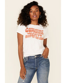 Shyanne Life Women's Cowgirl Soul Graphic Short Sleeve Tee , White, hi-res