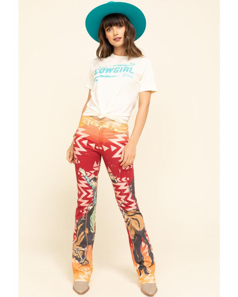 Ranch Dress'n Women's Dirt Is Cowgirl Glitter Tee, Tan, hi-res