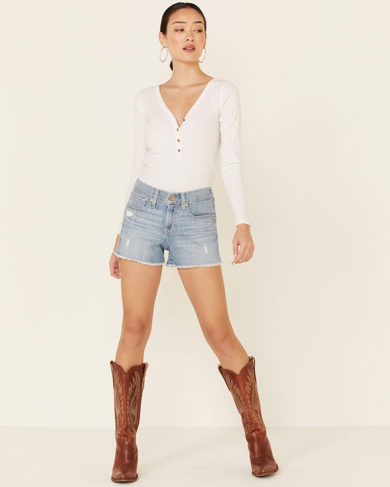 Ariat Women's Perfect Boyfriend Shorts, Blue, hi-res