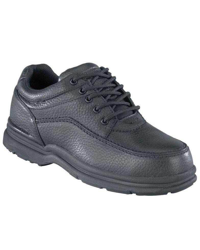 Rockport Works World Tour Casual Oxford Work Shoes - Steel Toe, Black, hi-res