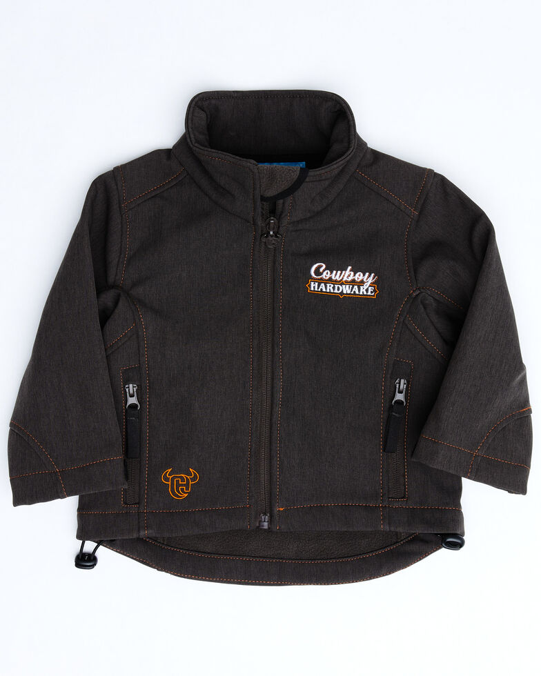 Cowboy Hardware Toddler Boys' Ride It Out Poly Shell Jacket , Brown, hi-res