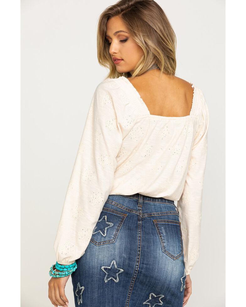 Coco + Jaimeson Women's Ivory Front Crop Top, Natural, hi-res