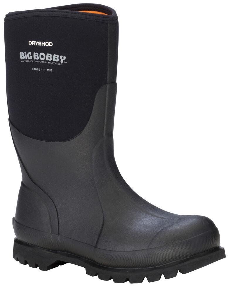 Dryshod Men's Mid Big Bobby Work Boots, Black, hi-res