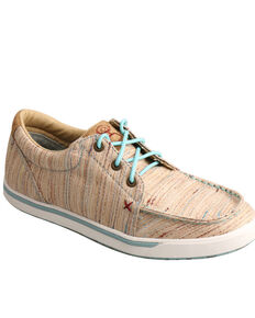 Twisted X Women's HOOEy Loper Textured Tan Sneakers, Peach, hi-res