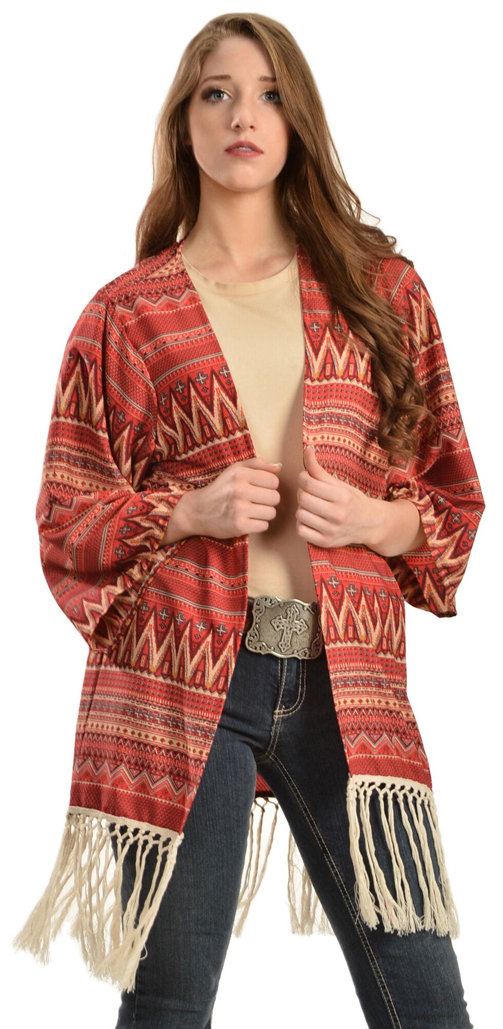 R Cinco Ranch Women's Anna Kimono, Pink, hi-res