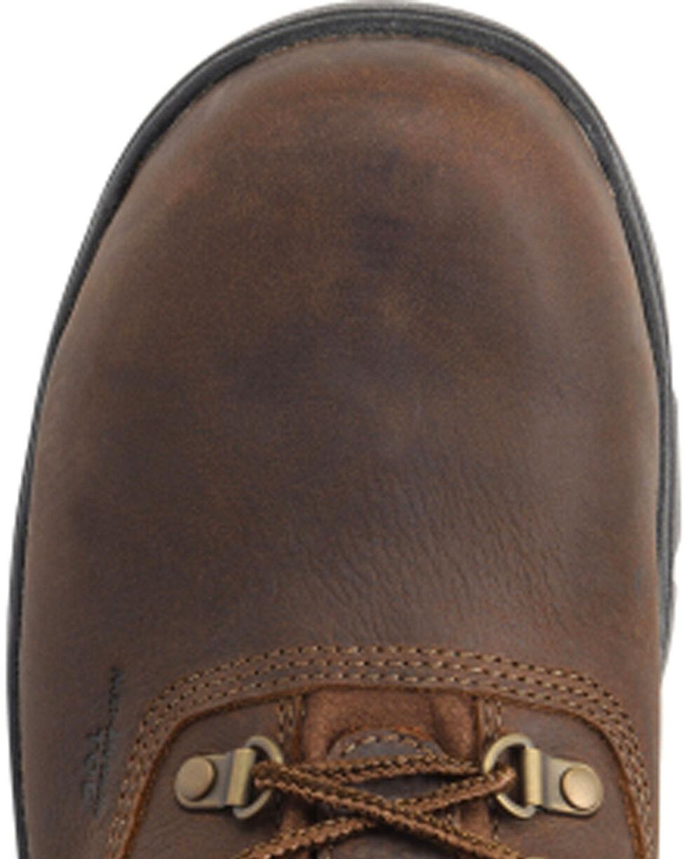 "Carolina Men's 6"" Lace Up Leather Waterproof Work Boots - Comp Toe, Dark Brown, hi-res"