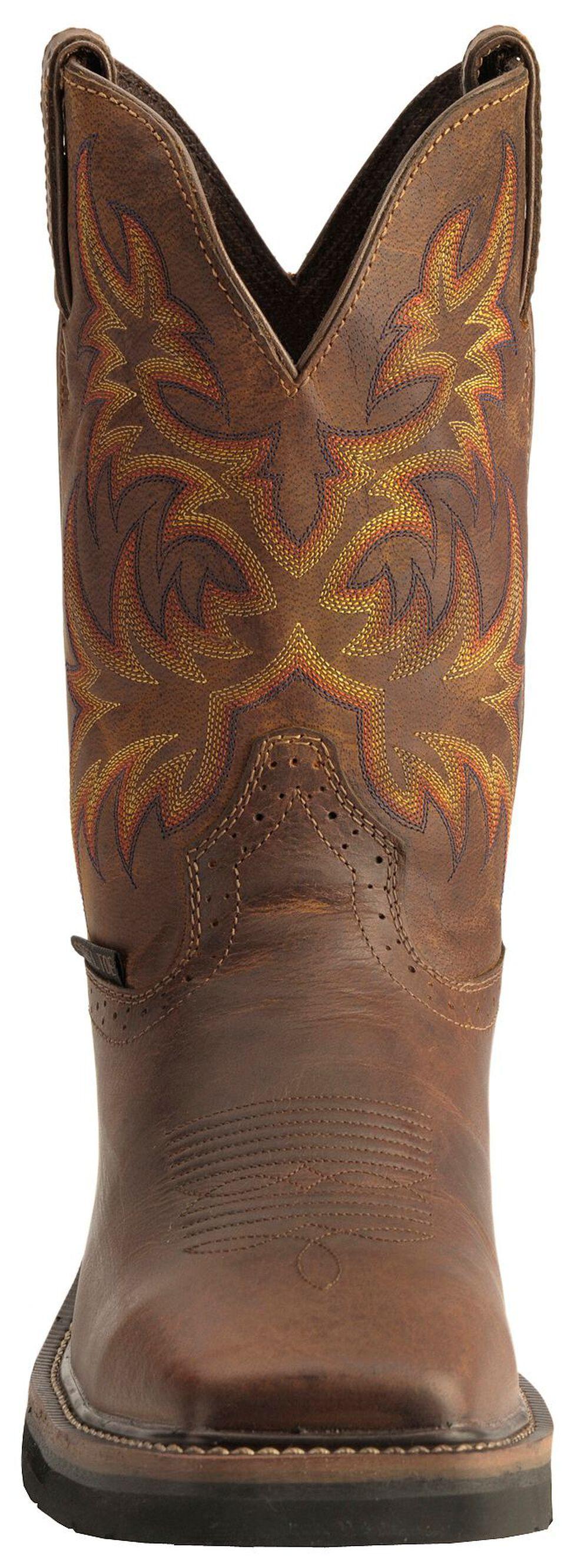 Justin Men's Stampede Driller Electrical Hazard Work Boots - Steel Toe, Tan, hi-res