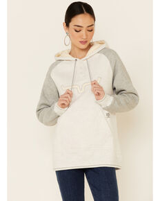 Kimes Ranch Women's Ash Grey Amigo Logo Hoodie , Grey, hi-res