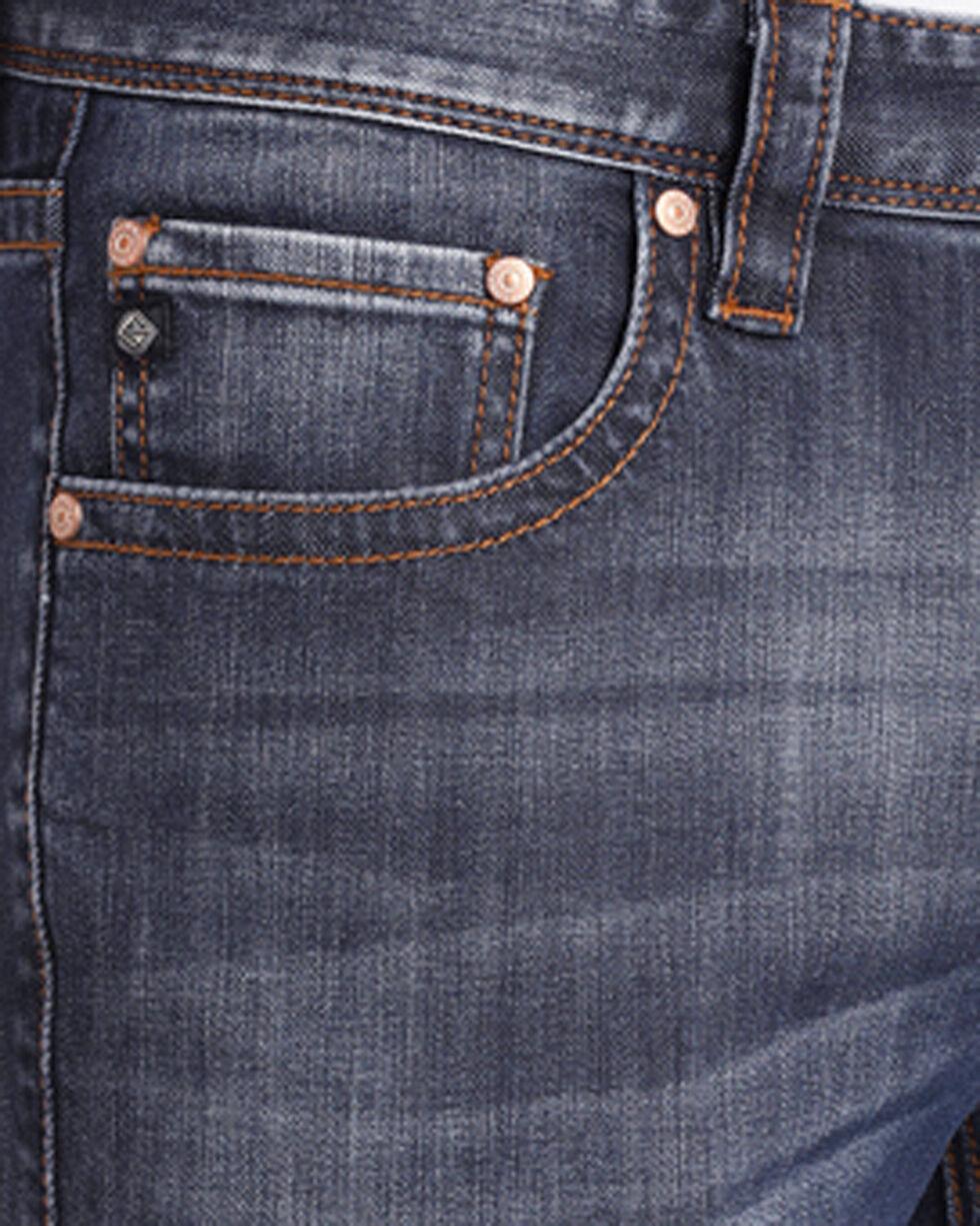 Rock & Roll Cowboy Men's Reflex Revolver Abstract V Jeans - Straight Leg, Blue, hi-res