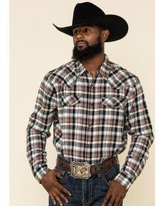 Cody James Men's Red Oak Plaid Long Sleeve Western Flannel Shirt , Cream, hi-res